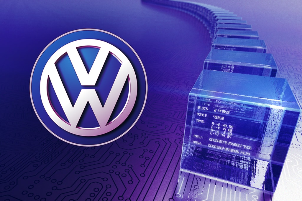 Новости об использовании технологии блокчейн компанией Volkswagen
