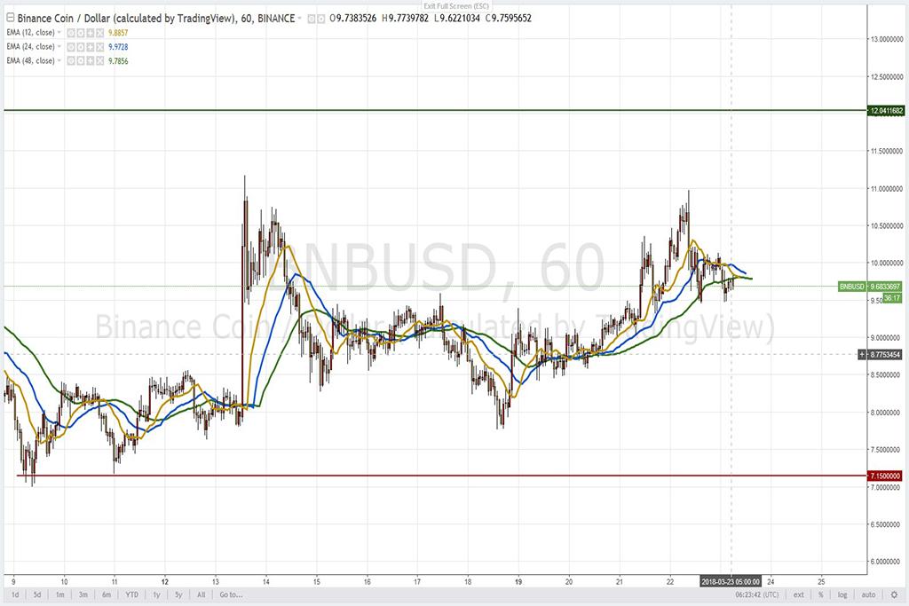 Анализ криптовалют на 23.03.2018: пара BNB/USD
